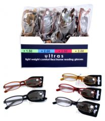 Reading Glasses Assorted Strength And Colours CDU