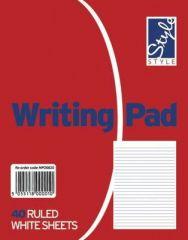 Office Style White Duke Writing Pad 40 Ruled Sheets