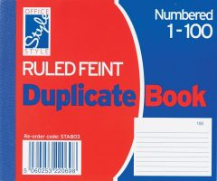 Office Style Duplicate Book Ruled Feint 105mm x 127mm