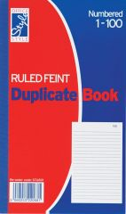 Office Style Duplicate Book Ruled Feint 206mm x 127mm