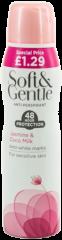 Soft & Gentle Anti-Perspirant Jasmine & Coco Milk 150ml PMP £1.29