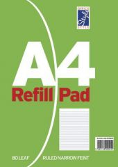 Office Style Refill Pad 80 Sheets Narrow Feint