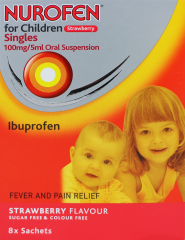 Nurofen For Children Sachets 8's Strawberry