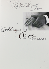Wholesale Always & forever wedding day card