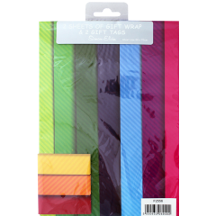 Packed Wrap 2 Sheets & 2 Tags - Designer Male