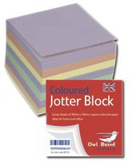 Owl Brand Coloured Jotter Block 400 Sheets