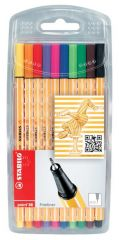 Stabilo Point 88 Fine Liner Pens 10 Assorted Colours Hang Pack