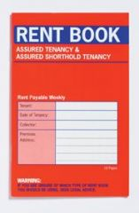 Rent Books Assured Tenancy & Assured Shorthold Tenancy 100 x 157mm