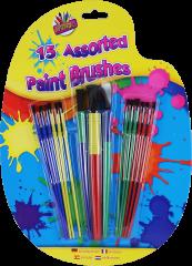 15 Assorted Plastic Paint Brushes