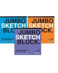 Silvine Jumbo Sketch Book 250mm x 250mm 120 Sheets Assorted Colours