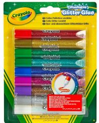 Crayola Washable Glitter Glue Pens 9's Hang Pack