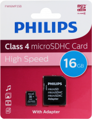 Philips 16GB Micro SDHC Card + Adaptor
