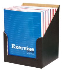 Silvine Exercise Book 203mm x 165mm 120 Lined Pages Red & Blue Assorted CDU
