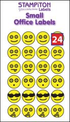 Smiley Self Adhesive Labels 8mm Dots