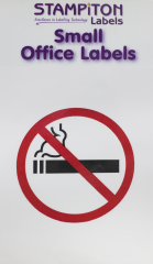 No Smoking Self Adhesive Labels Hang Pack