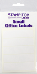 White Self Adhesive Labels 19mm x 76mm