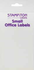 White Self Adhesive Labels 25mm x 40mm