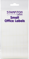 White Self Adhesive Labels 10mm x 32mm