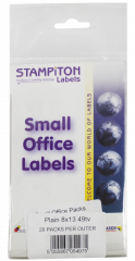 White Self Adhesive Labels 8mm x 13mm