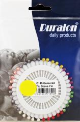 Duralon Dress Pins Coloured Tip