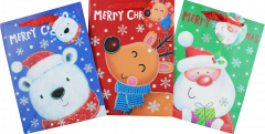 Gift Bag Small Christmas Characters 18 x 24 x 10cm 4 Assorted