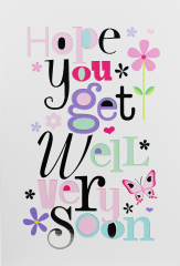 Get Well Female Card - Word Play By Simon Elvin