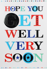 Get Well Male Card - Word Play By Simon Elvin
