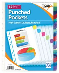 Wholesale 12 Part A4 Pocket Dividers Pack of 10