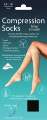 Compression Socks Silky Smooth Black UK 4-8