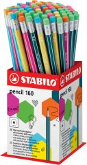 Stabilo HB Pencil With Eraser Assorted Colours CDU