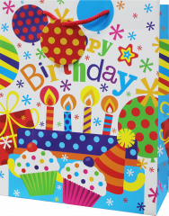 Wholesale Gift Bag Large Birthday Party - Bright