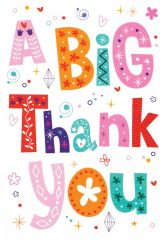 Wholesale A Big Thank You card Open