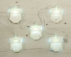 8 Owl Lights Battery Operated