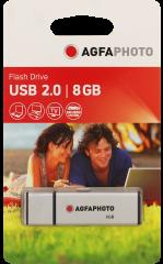 AgfaPhoto 8GB 2.0 Silver USB 8GB