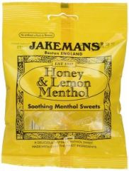 Jakemans Soothing Menthol Sweets - Honey & Lemon Menthol 100g