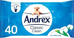 Andrex Classic Clean Toilet Tissue Wipes 40's