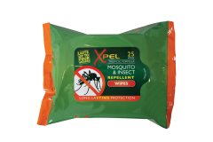 Xpel Mosquito & Insect Repellent Wipes 25's