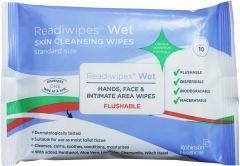 Readiwipes Flushable Hand & Face Wet Wipes 10's