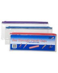 Clear Exam Pencil Case 32 x 12cm