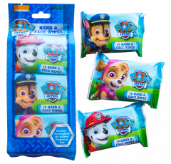 Paw Patrol Hand & Face Wipes 10's Triple Pack