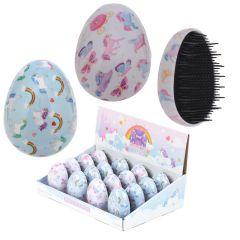 Egg Shaped Hair Brush - Unicorn