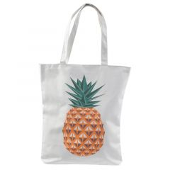 Cotton Bag With Zip - Pineapple