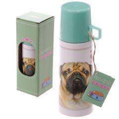 Stainless Steel Flask 350ml - Pugs & Kisses