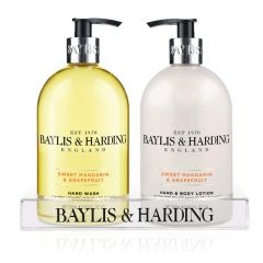 Wholesale Baylis & Harding Sweet Mandarin & Grapefruit 500ml Handwash & 500ml Hand/Body Lotion In Acrylic Stand