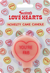 Love Hearts Jumbo Cake Candles Assorted Designs