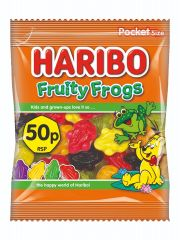 Wholesale Haribo 50p Fruity Frogs Pocket Size 70g