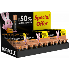 Duracell Plus AA / AAA Alkaline Batteries 8pk *Special Offer* CDU