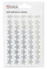 Self Adhesive Metallic Silver Stars