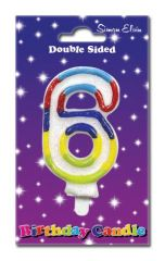 Number 6 Cake Candle
