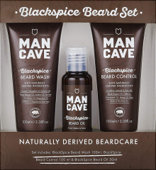 Man Cave Blackspice Natural Beard Care Gift Set